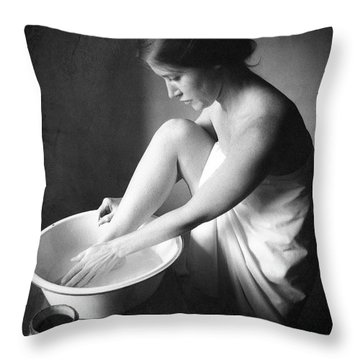 Footwasher Throw Pillow