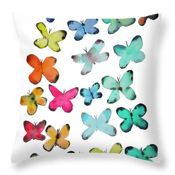 For A Friend Throw Pillow by Roleen Senic