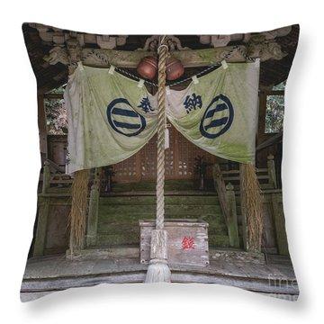 Forrest Shrine, Japan Throw Pillow