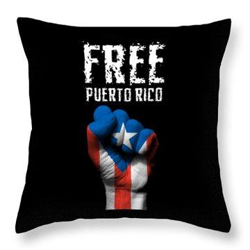 Free Puerto Rico Throw Pillow