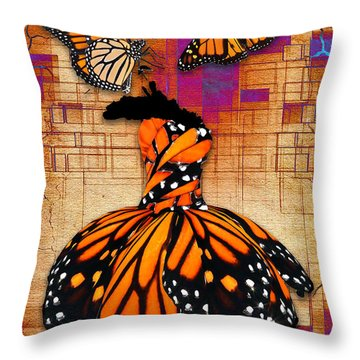Throw Pillow featuring the mixed media Freedom To Be by Marvin Blaine