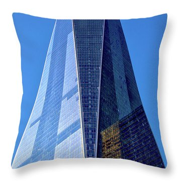 Throw Pillow featuring the photograph Freedom Tower by Mitch Cat