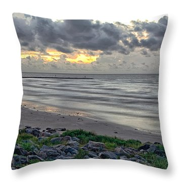 Galveston Sunrise Throw Pillow