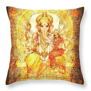 Ganesha Ganapati - Success Throw Pillow