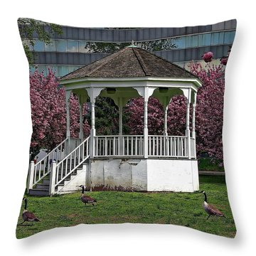 Gazebo In The Park Throw Pillow