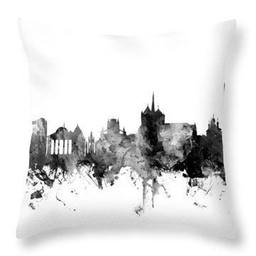 Geneva Switzerland Skyline Throw Pillow