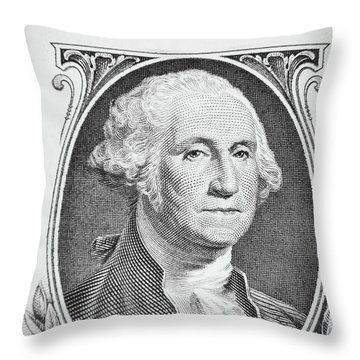 Throw Pillow featuring the photograph George Washington by Les Cunliffe