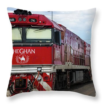 ghan at Alice Springs Throw Pillow