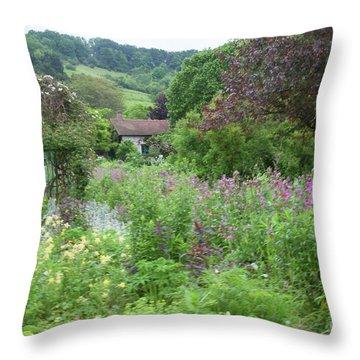 Giverny Monet's Garden Throw Pillow