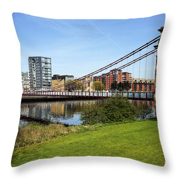 Throw Pillow featuring the photograph Glasgow by Jeremy Lavender Photography