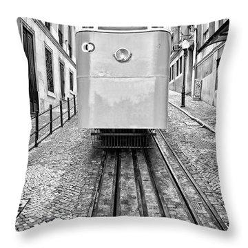 Gloria Funicular Throw Pillow by Jose Elias - Sofia Pereira