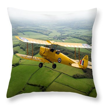 Throw Pillow featuring the photograph Going Solo by Gary Eason