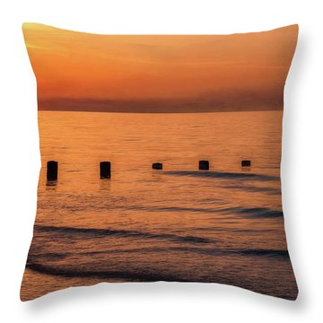 Throw Pillow featuring the photograph Golden Sunset by Adrian Evans