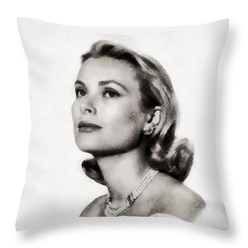 Grace Kelly, Vintage Hollywood Actress Throw Pillow by John Springfield