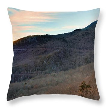 Throw Pillow featuring the photograph Grandfather Mountain by Ray Devlin