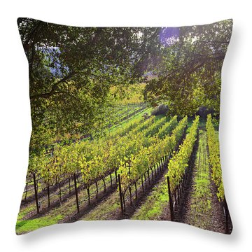 Grapevines In The Fall Throw Pillow