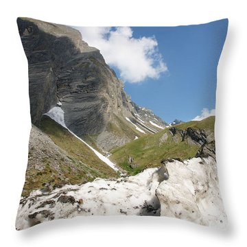 Throw Pillow featuring the photograph Grossglockner by Christian Zesewitz