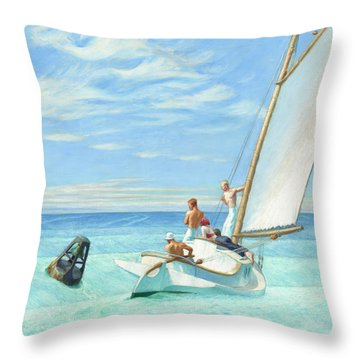 Ground Swell Throw Pillow
