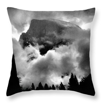 Half Dome And Clearing Storm Throw Pillow