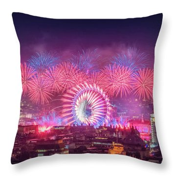 Happy New Year 2018 Throw Pillow