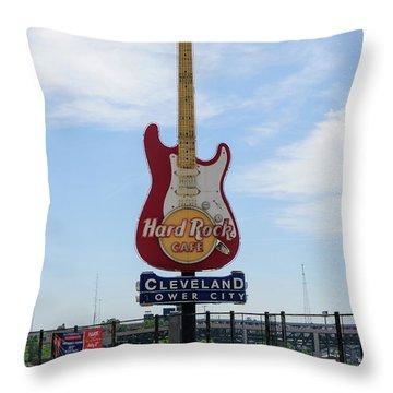 Hard Rock Cafe Throw Pillow