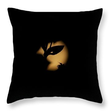 Harvest Moon Masquerade Throw Pillow by Deborah Moen