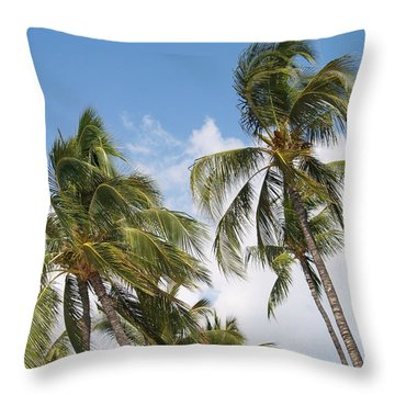 Hawaiian Breeze Throw Pillow