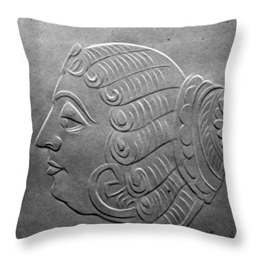Throw Pillow featuring the relief Head by Suhas Tavkar