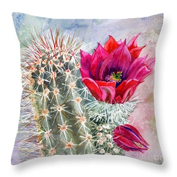 Hedgehog Cactus Throw Pillow