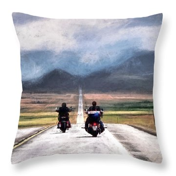 Roll Me Away Throw Pillow by Jim Hill