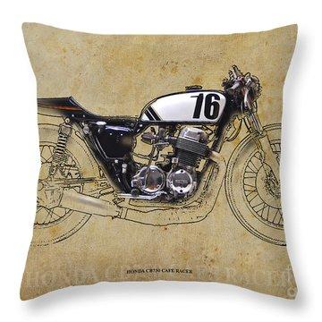 Honda Cb750 Cafe Racer Throw Pillow
