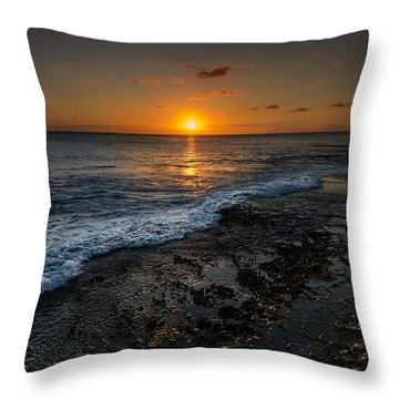 Honolulu Sunset Throw Pillow