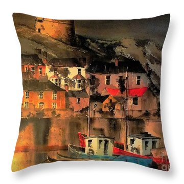 Howth Sunset Dublin Throw Pillow