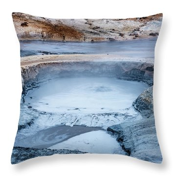 Hverir Steam Vents In Iceland Throw Pillow