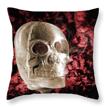 Ice Skull'pture Throw Pillow