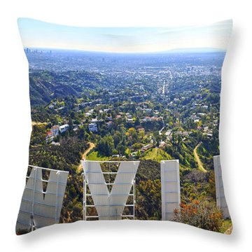 Iconic Hollywood  Throw Pillow