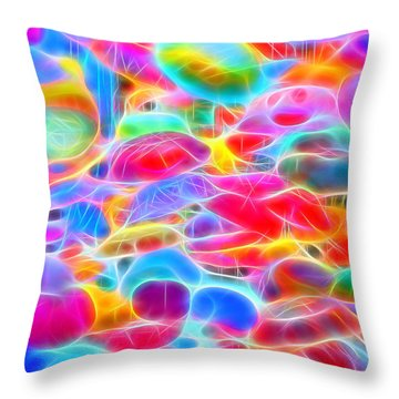 In Color Abstract 9 Throw Pillow