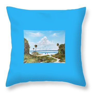In Paradise Throw Pillow