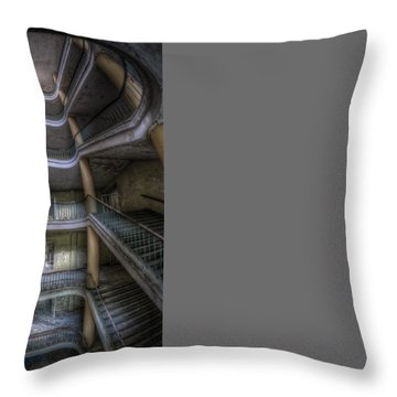 In The Middle Throw Pillow by Nathan Wright