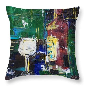 In Vino Veritas. Wine Collection 12 Throw Pillow