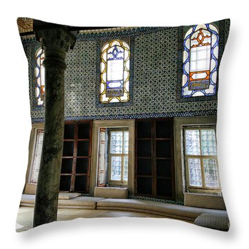 Throw Pillow featuring the photograph Inside The Harem Of The Topkapi Palace by Patricia Hofmeester