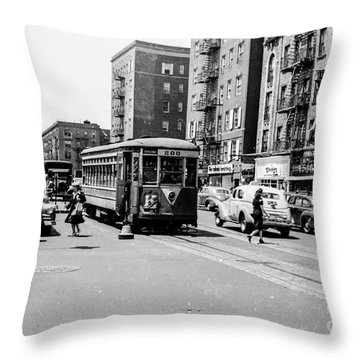 Throw Pillow featuring the photograph Inwood Trolley  by Cole Thompson