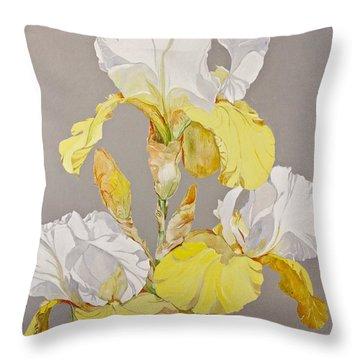 Irises-posthumously Presented Paintings Of Sachi Spohn  Throw Pillow