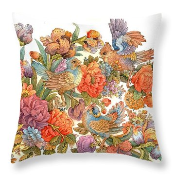 Isfahan Throw Pillow by Reza Badrossama