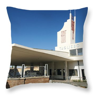 Italian Colonial Architecture In Asmara Eritrea Throw Pillow