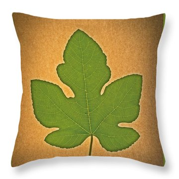 Throw Pillow featuring the photograph Italian Honey Fig Leaf by Frank Wilson
