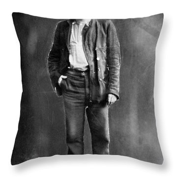 Jack London (1876-1916) Throw Pillow by Granger