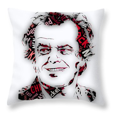 Jack Nicholson Movie Titles Throw Pillow by Marvin Blaine