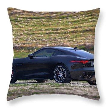 #jaguar #f-type #print Throw Pillow