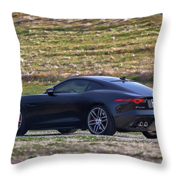 #jaguar #f-type #print Throw Pillow